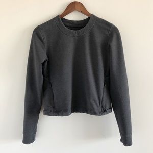 Lululemon &Go Endeavor Hsathered Black Long Sleeve
